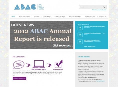 The ABAC Scheme Limited website screenshot