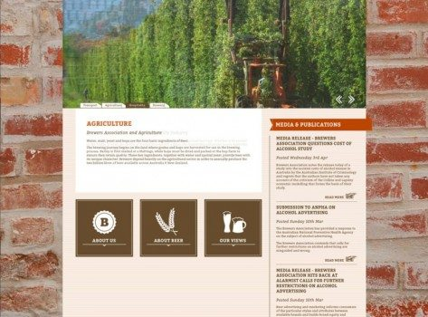 Brewers Association of Australia & New Zealand website screenshot